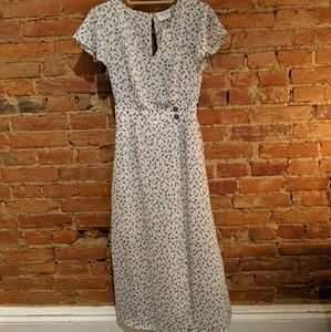 Dainty Flower Full Length Dress